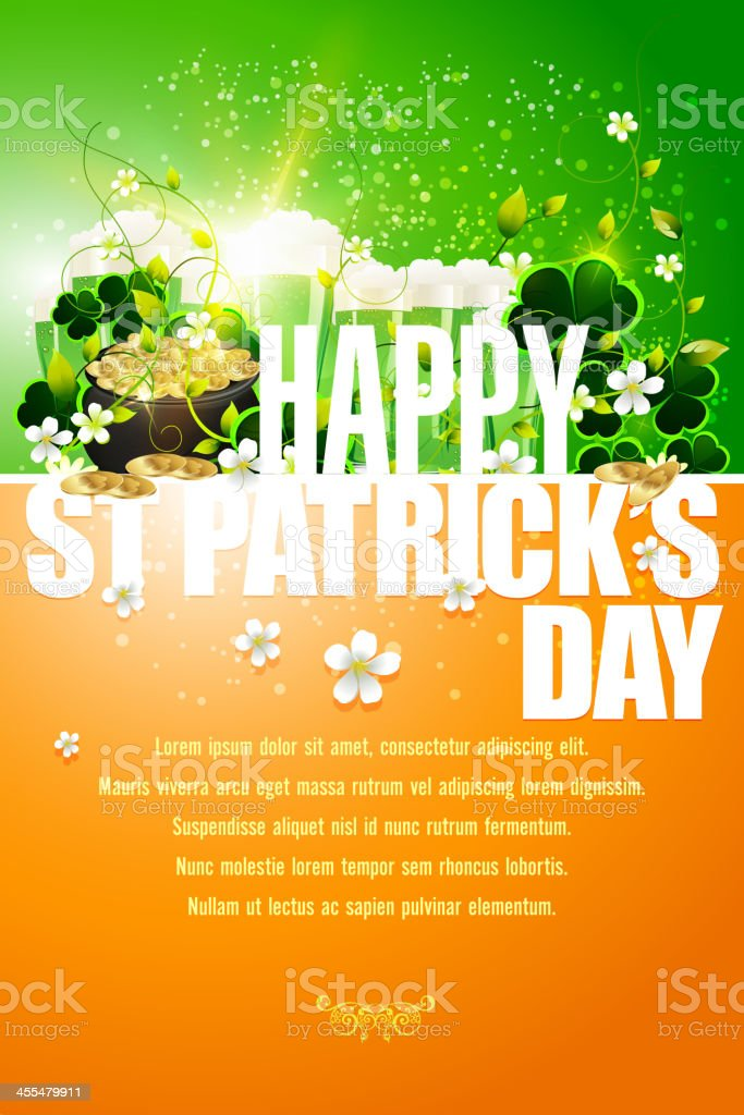 A poster wishing a happy st Patrick's day vector art illustration