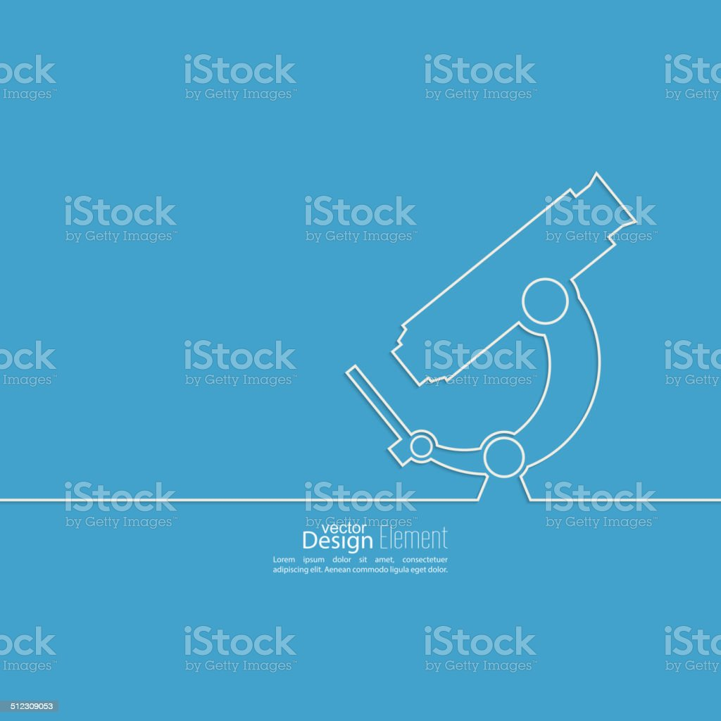 Poster with a microscope vector art illustration