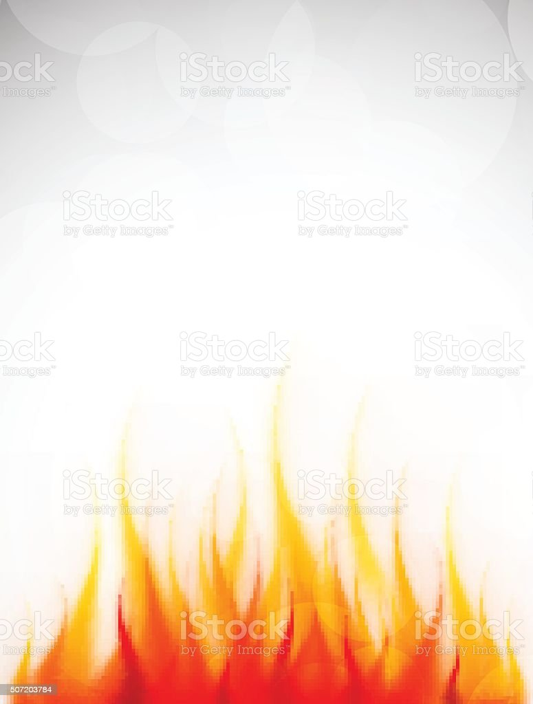 Poster with fire vector art illustration