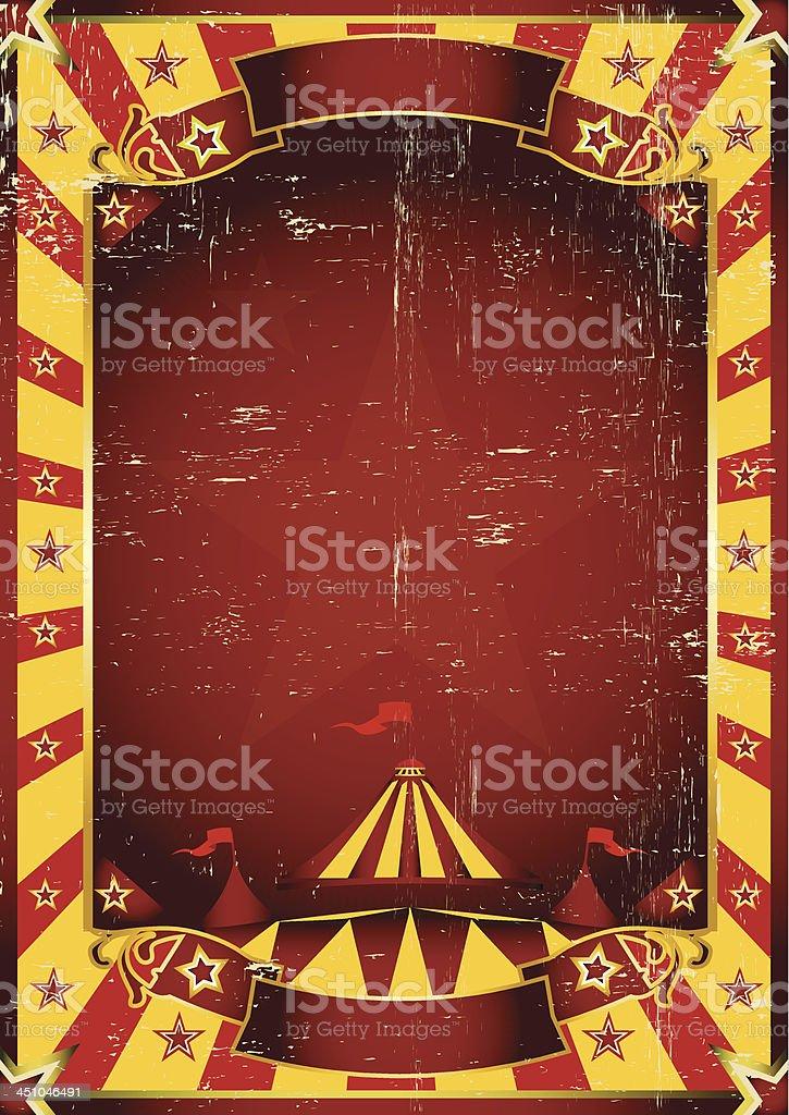 Poster yellow dirty circus. royalty-free stock vector art