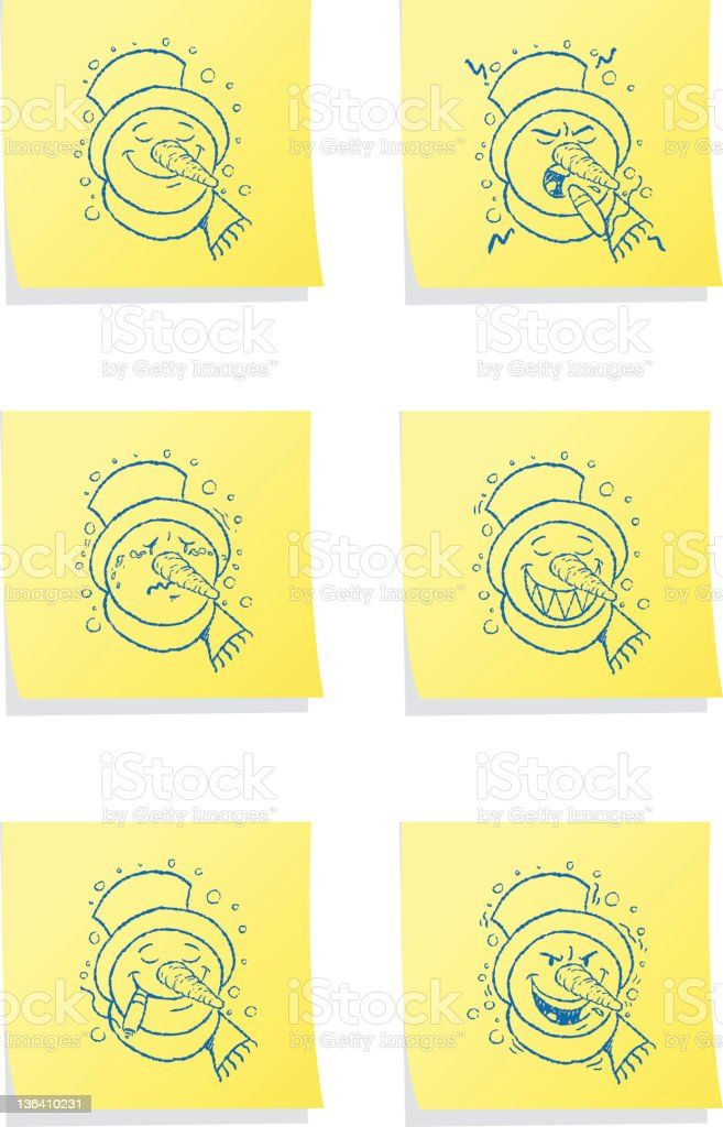 Post-it Emotions royalty-free stock vector art