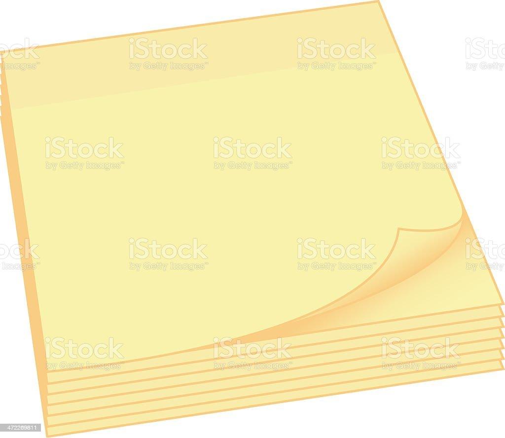 Postit notes royalty-free stock vector art