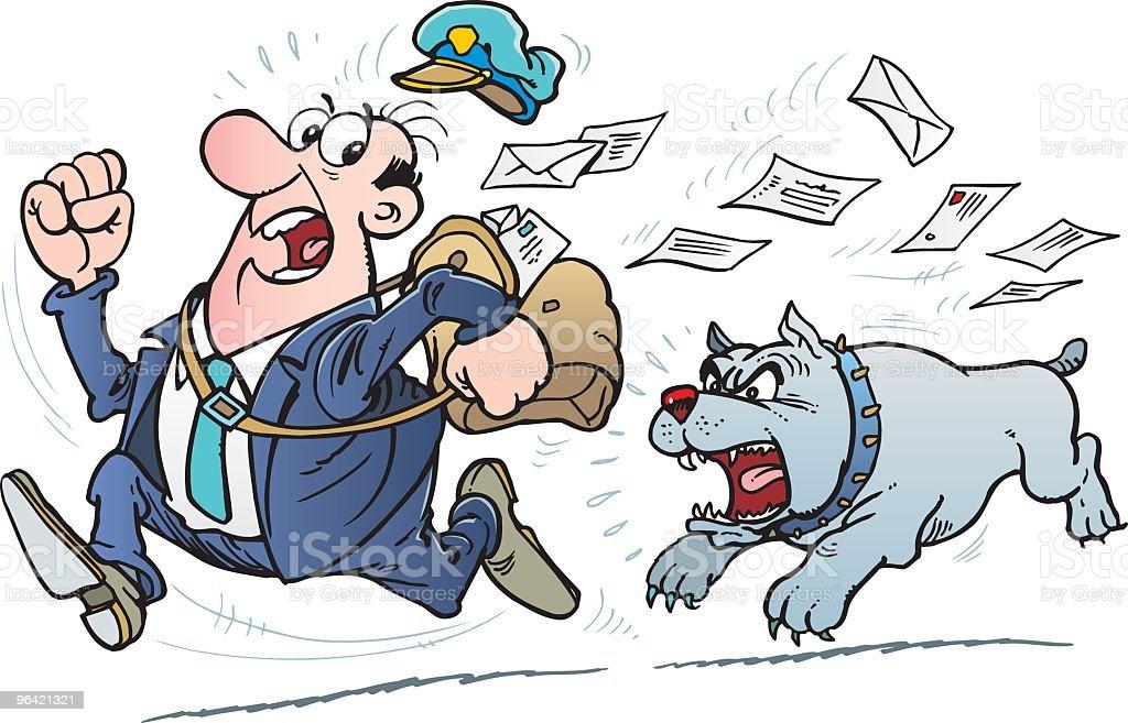 Postman and dog royalty-free stock vector art