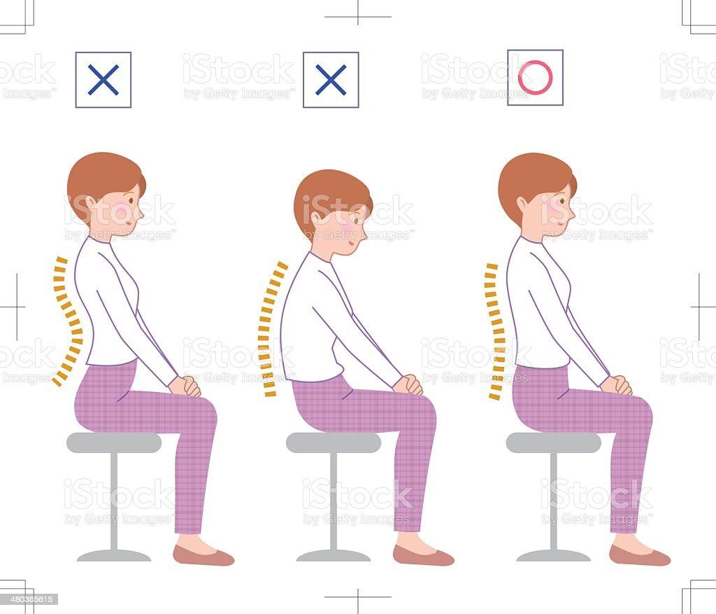 posture vector art illustration