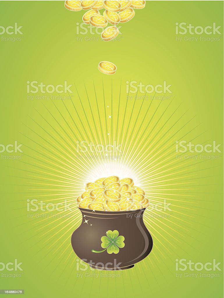 Pot for St. Patrick's Day royalty-free stock vector art