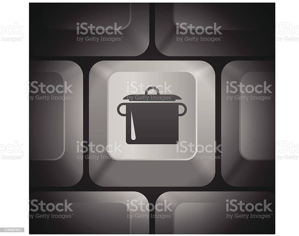 Pot Icon on Computer Keyboard royalty-free stock vector art