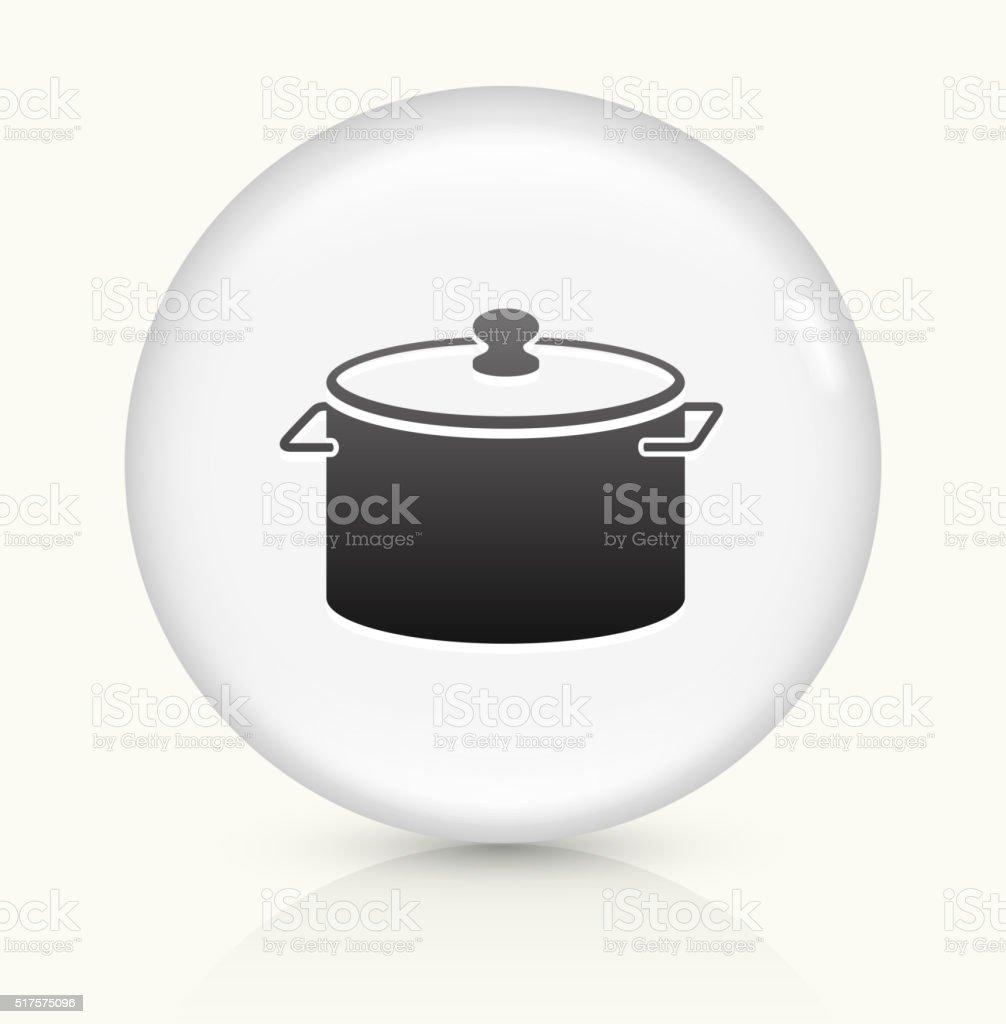 Pot icon on white round vector button vector art illustration