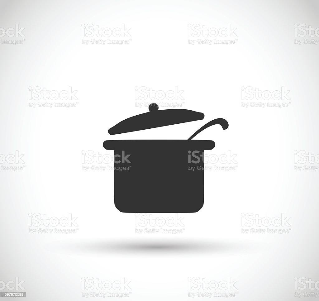 Pot icon vector illustration vector art illustration