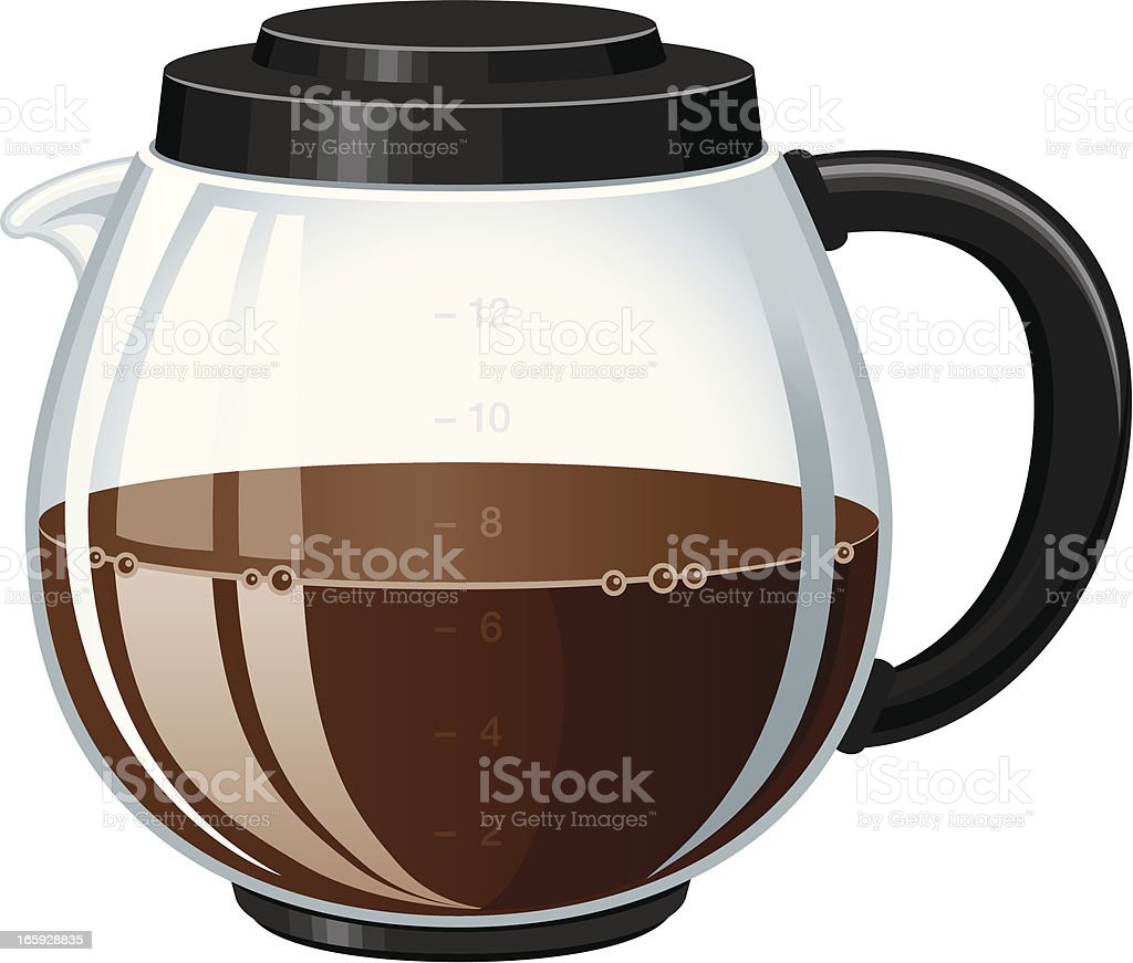 Pot of coffee vector art illustration