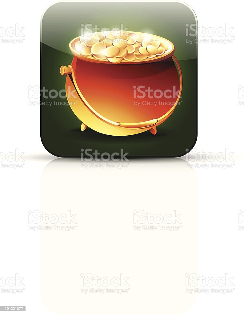 Pot of gold icon royalty-free stock vector art