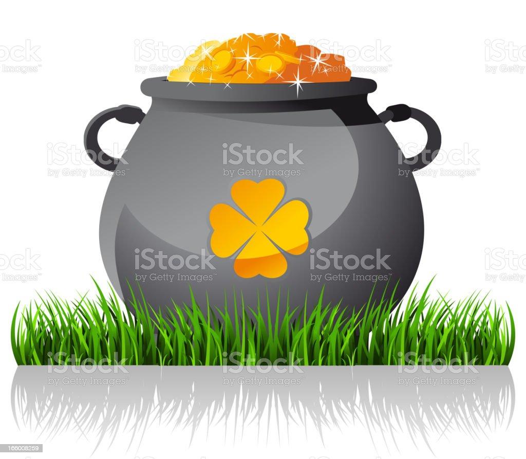 Pot of Gold royalty-free stock vector art