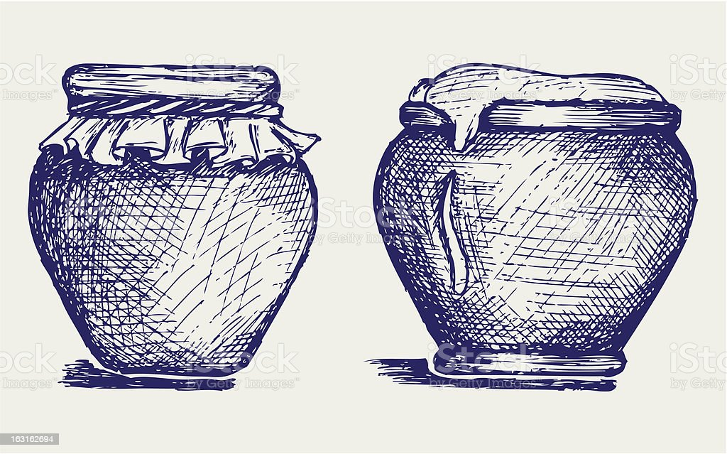 Pot of honey royalty-free stock vector art