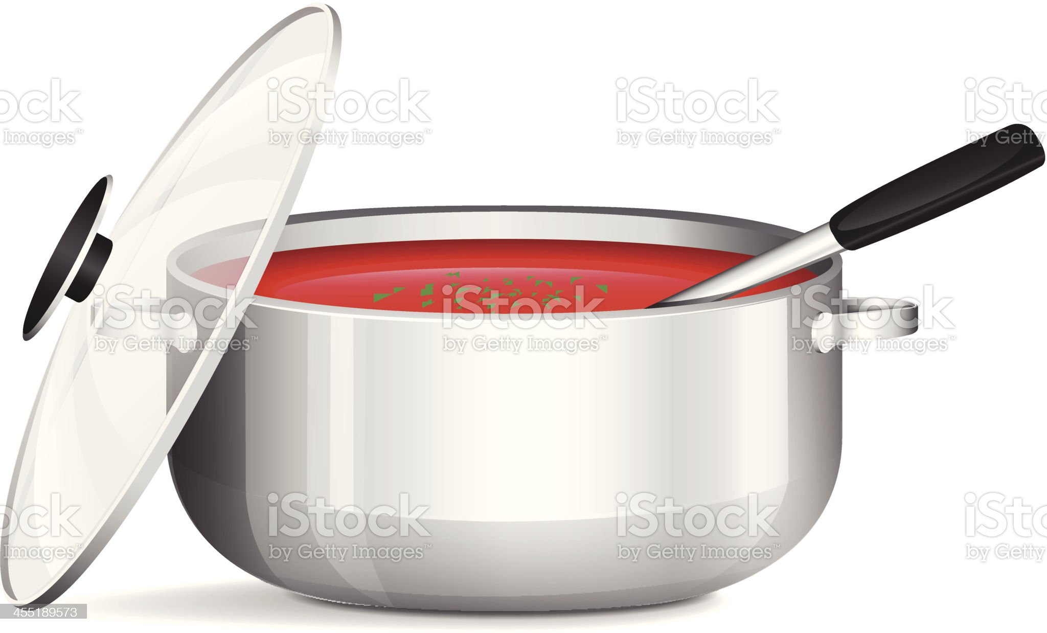 Pot Of Soup royalty-free stock vector art