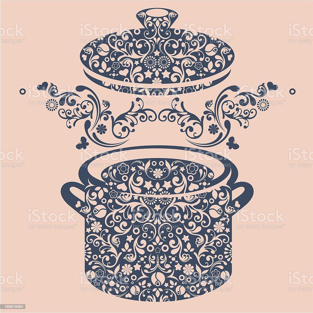 Pot. royalty-free stock vector art