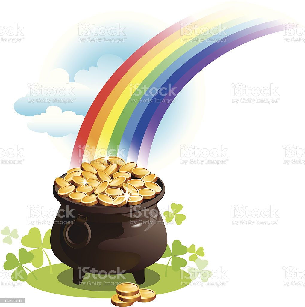 pot with gold royalty-free stock vector art