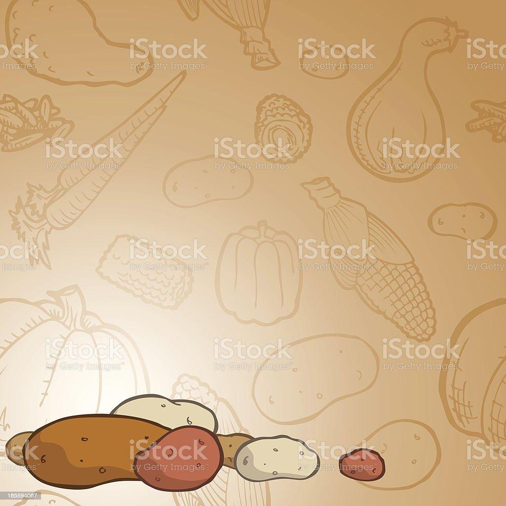 Potato Background royalty-free stock vector art
