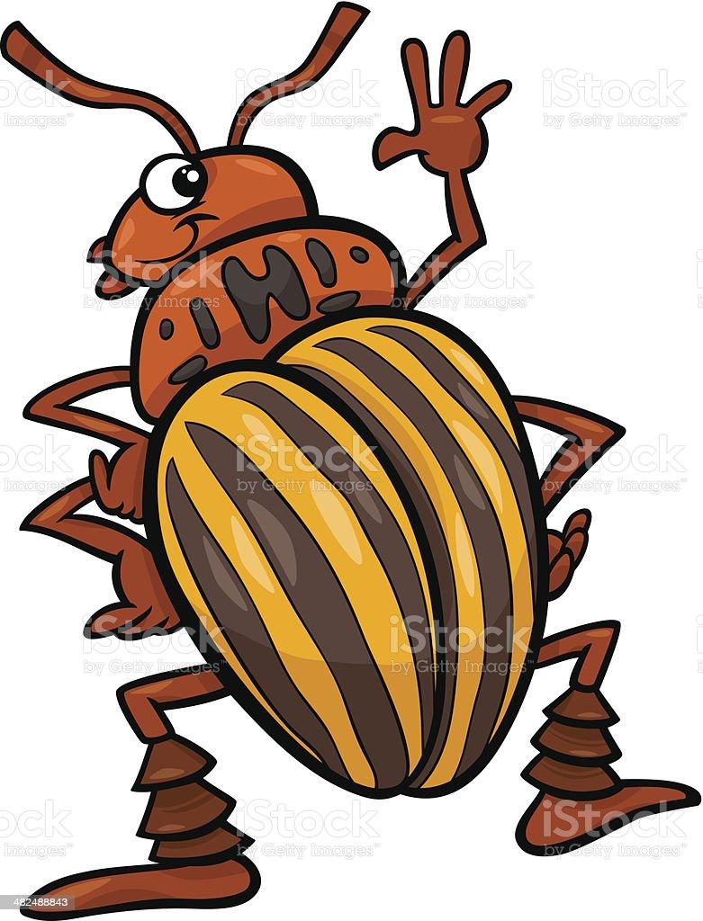 potato beetle insect cartoon illustration vector art illustration
