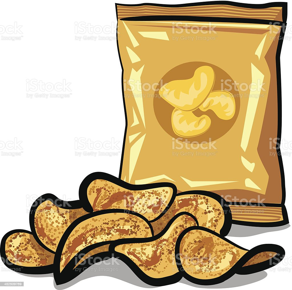 potato chips vector art illustration
