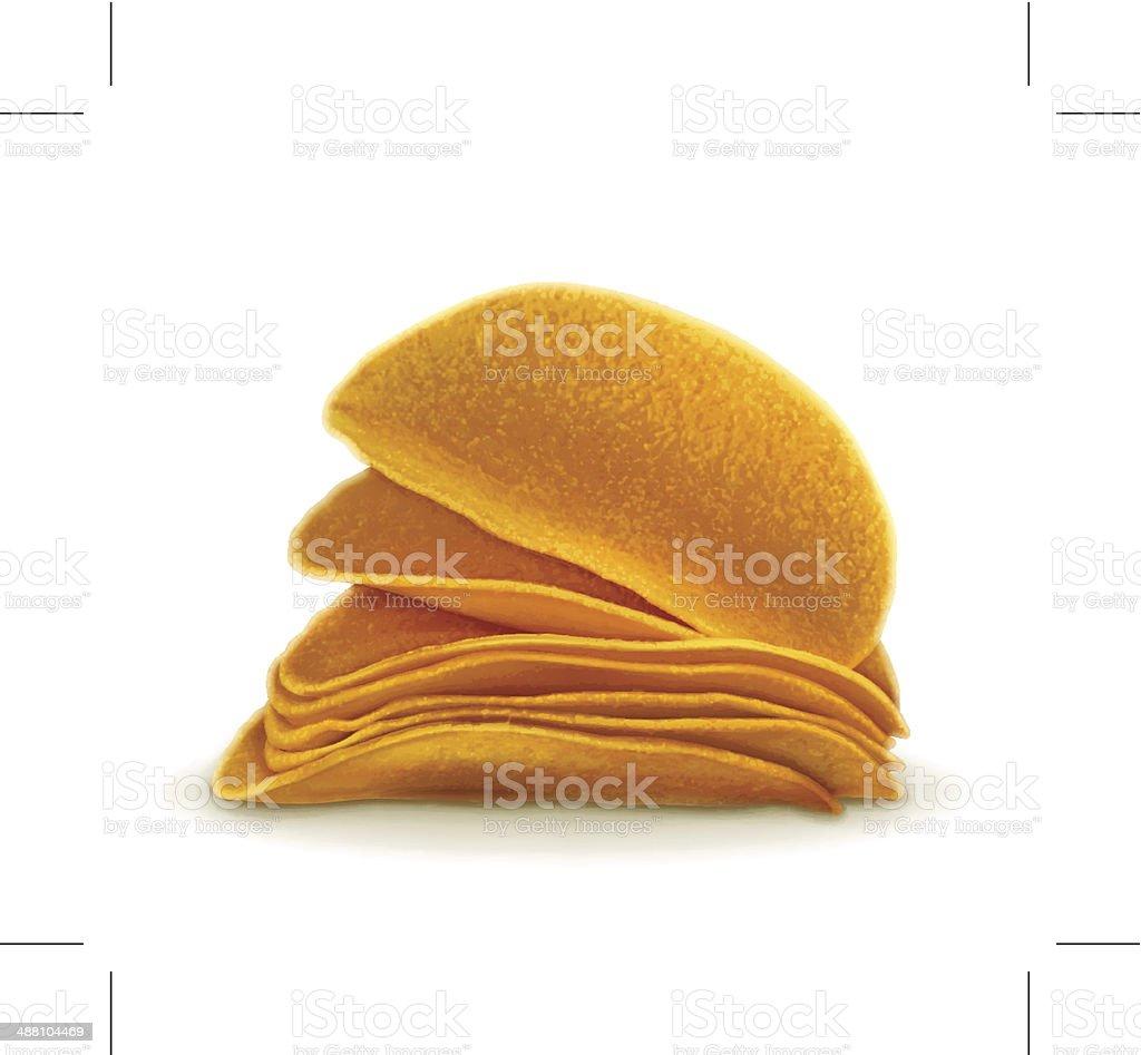 Potato chips royalty-free stock vector art