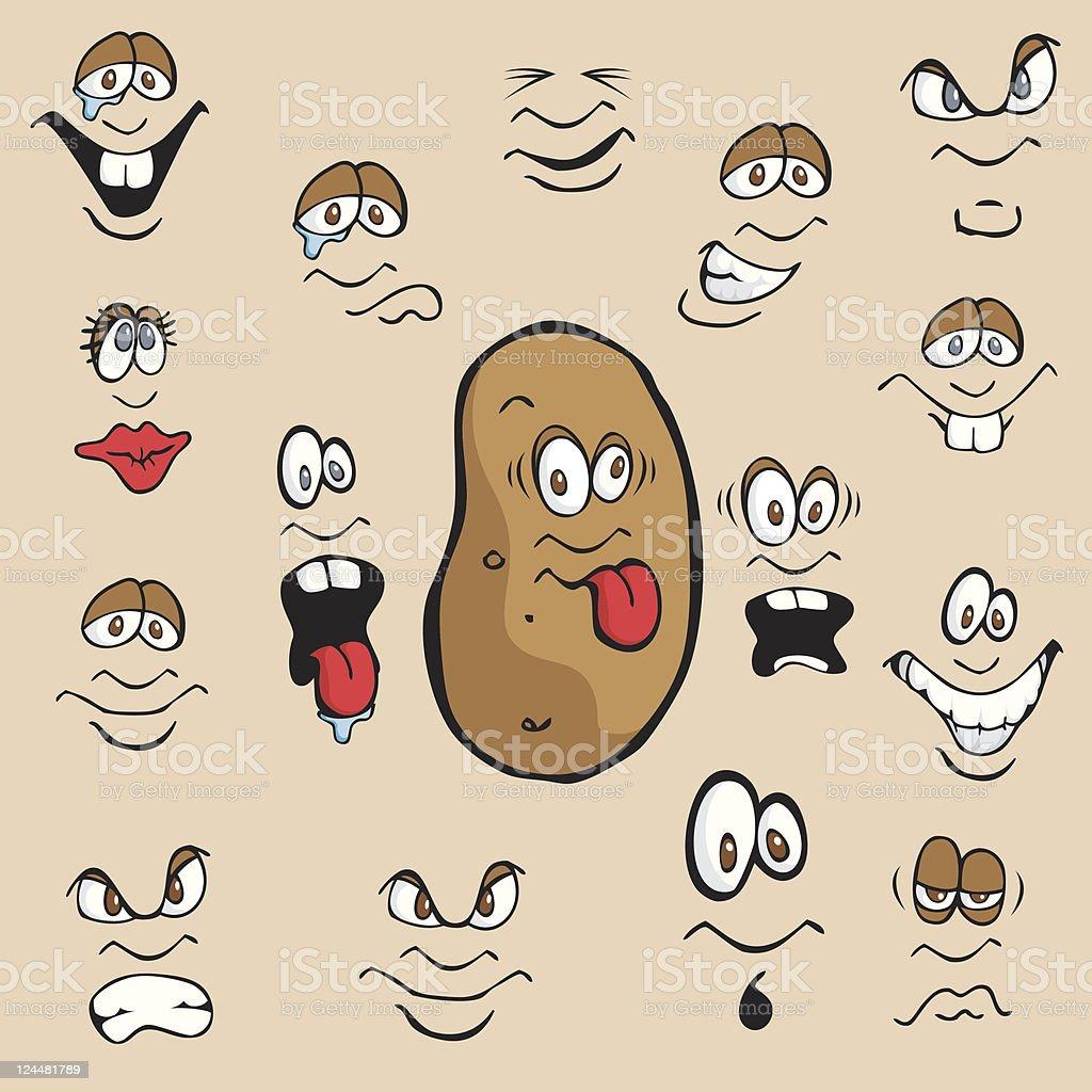 Potato Expressions royalty-free stock vector art