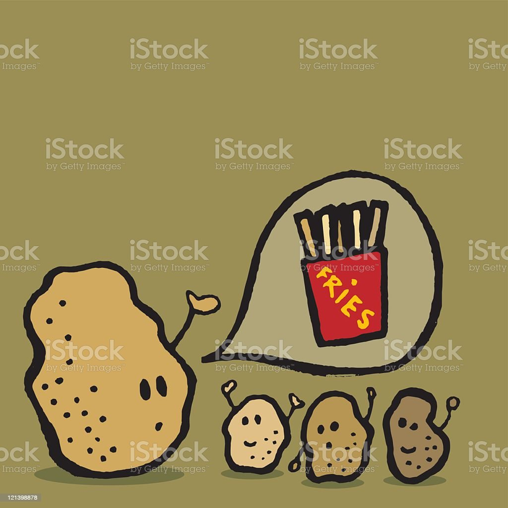 Potato Fries royalty-free stock vector art