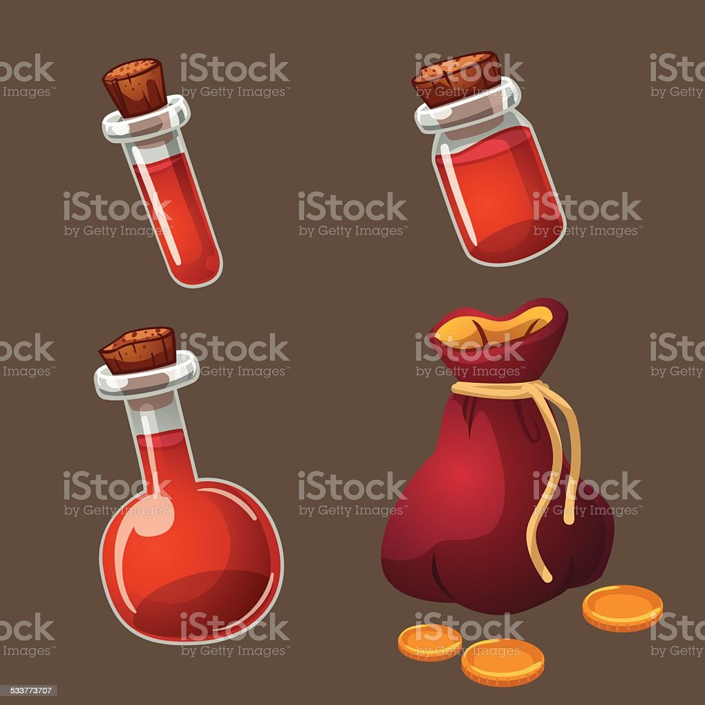 Potion and gold royalty-free stock vector art