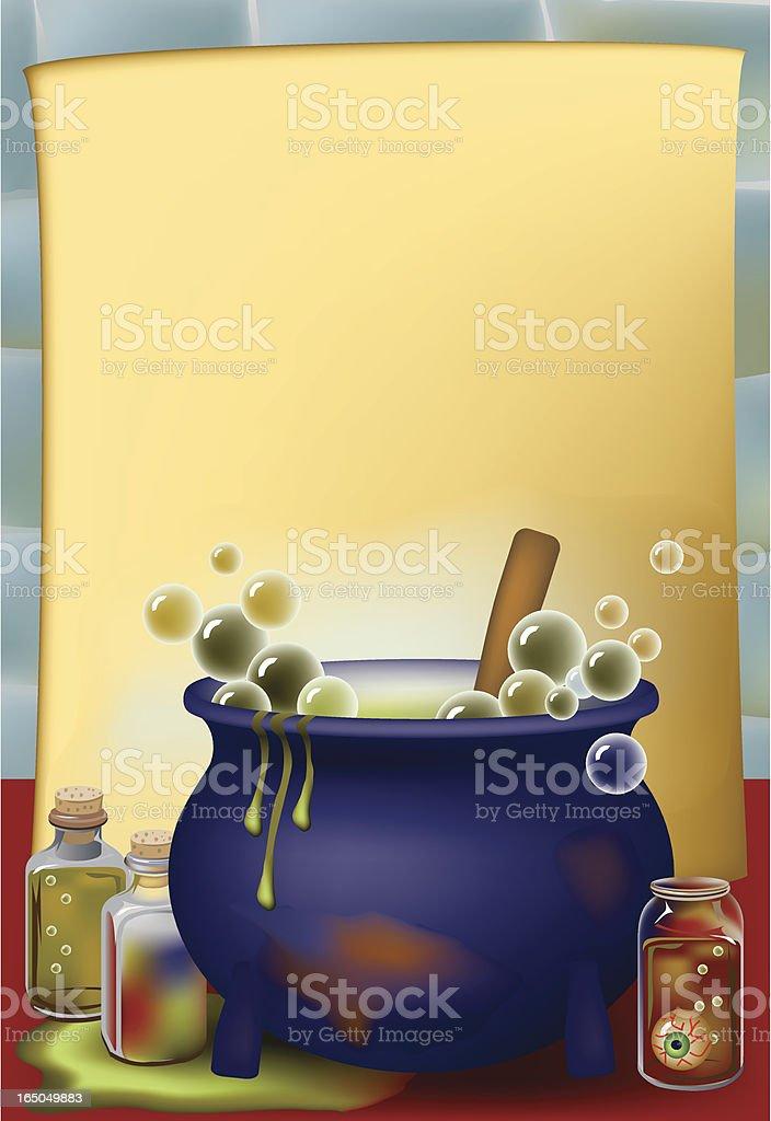 Potions Cauldron royalty-free stock vector art