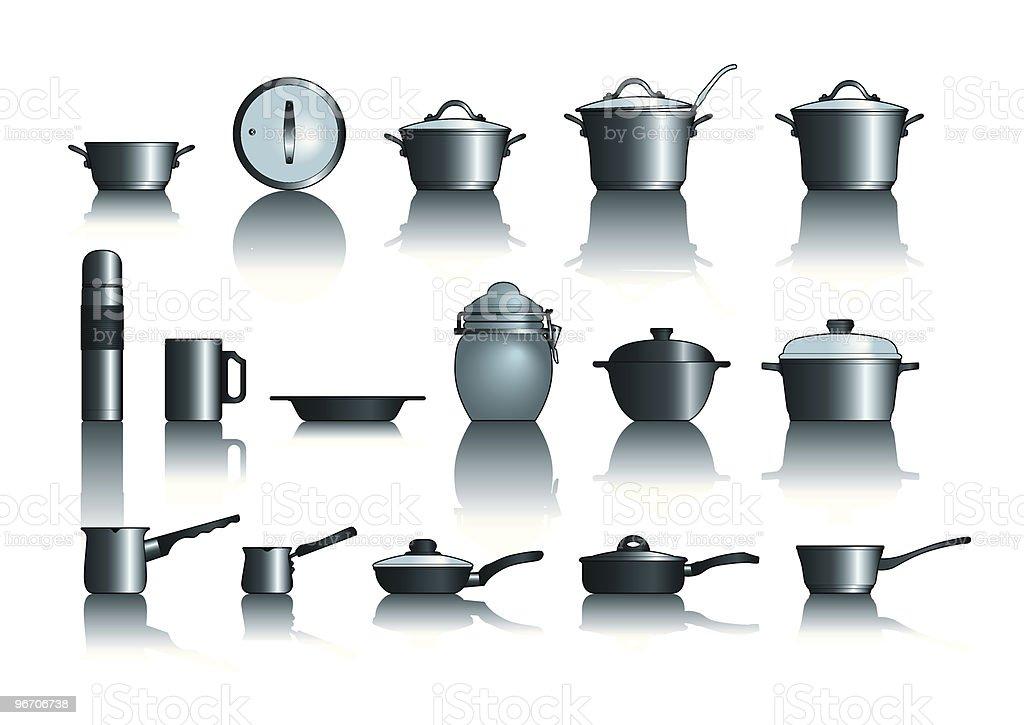 pots&pans vector art illustration