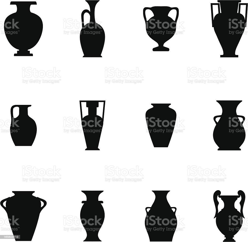 Pottery Icon royalty-free stock vector art