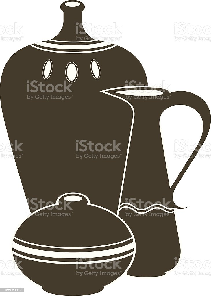 Pottery. royalty-free stock vector art