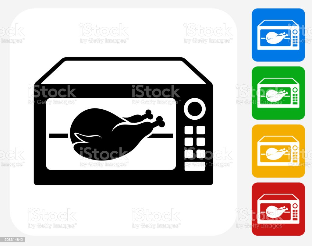 Poultry Icon Flat Graphic Design vector art illustration