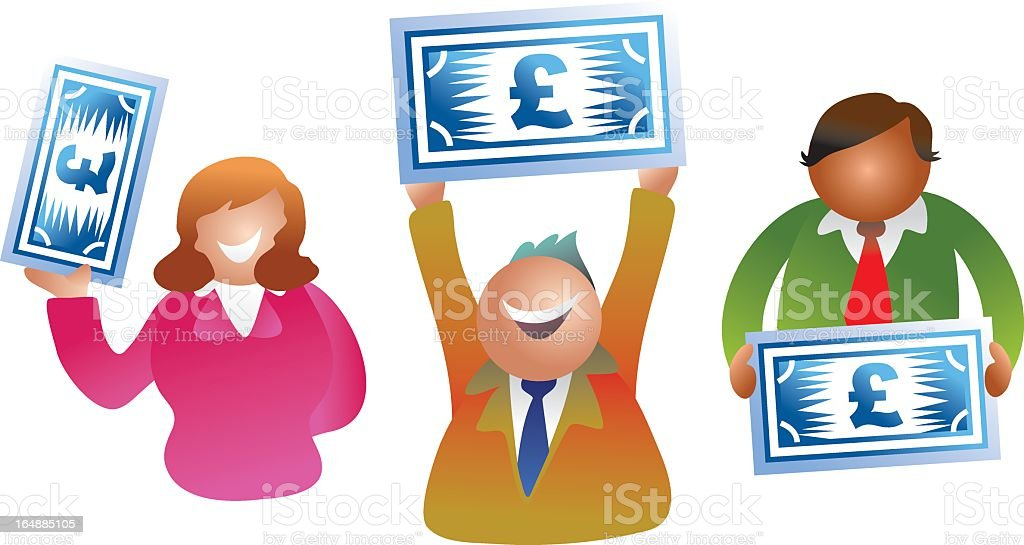 pound people royalty-free stock vector art