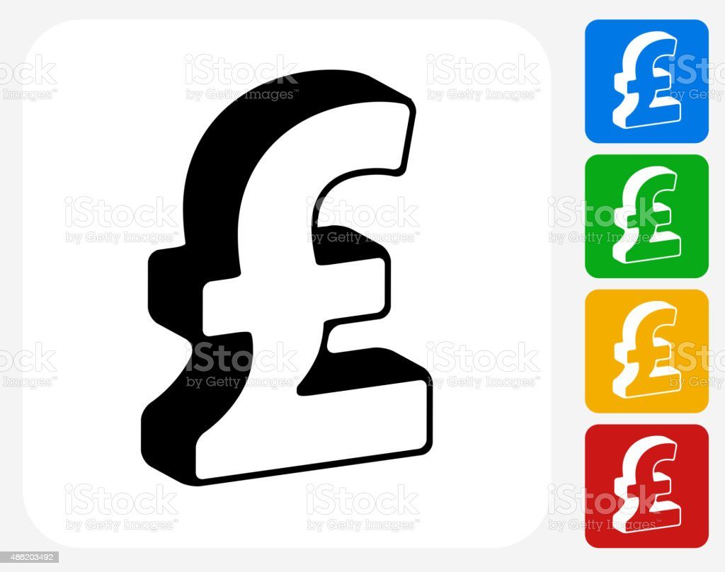 Pound Sign Icon Flat Graphic Design vector art illustration