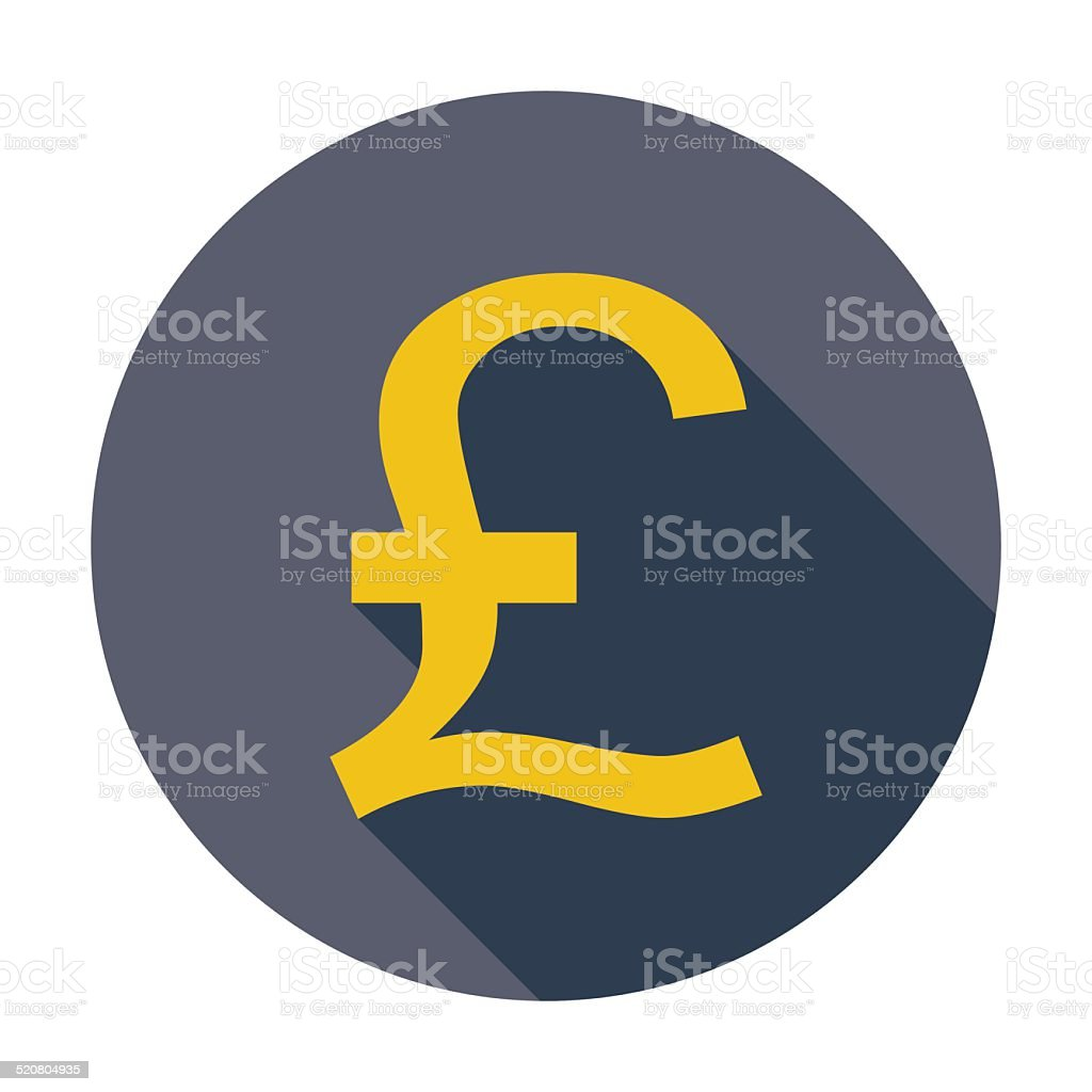 Pound sterling icon. vector art illustration