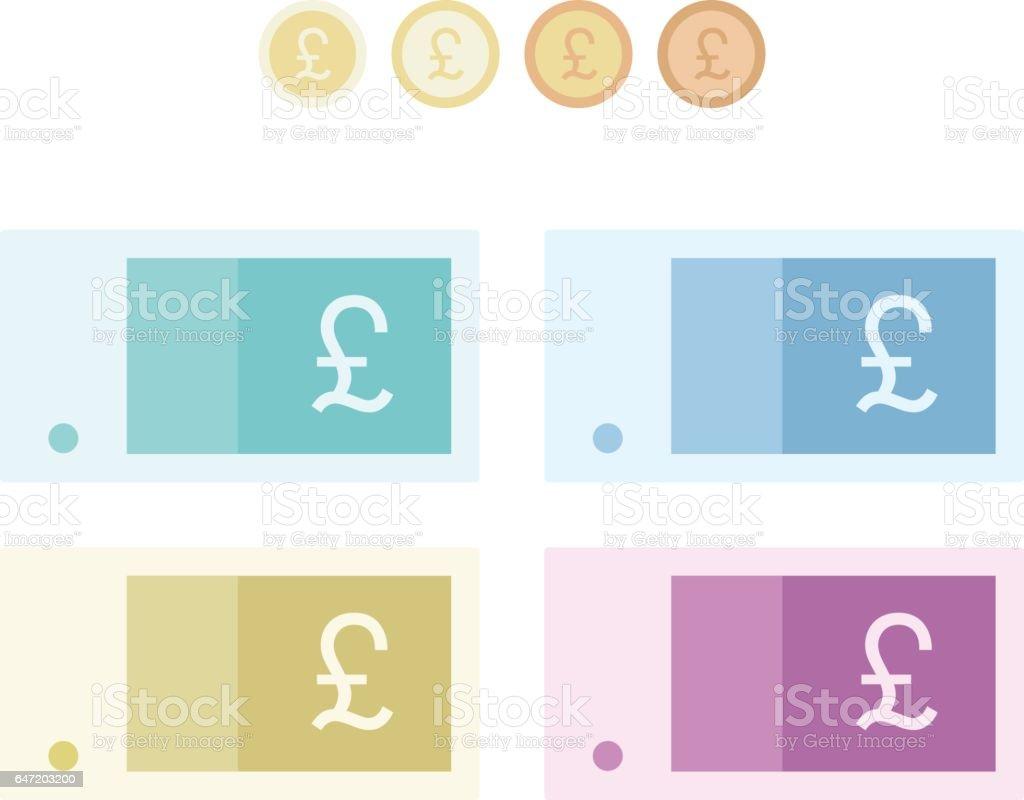Pound sterling vector art illustration