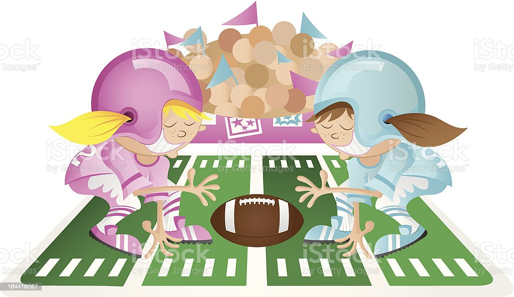 Powder Puff Football royalty-free stock vector art