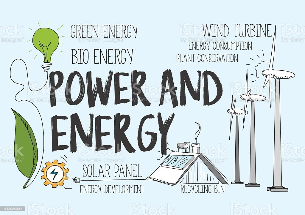 Power and Energy Concept vector art illustration