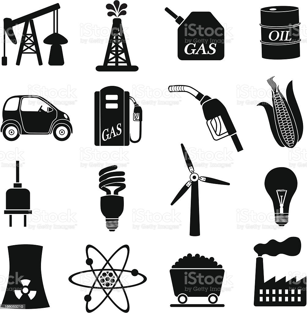 power and energy icons royalty-free stock vector art