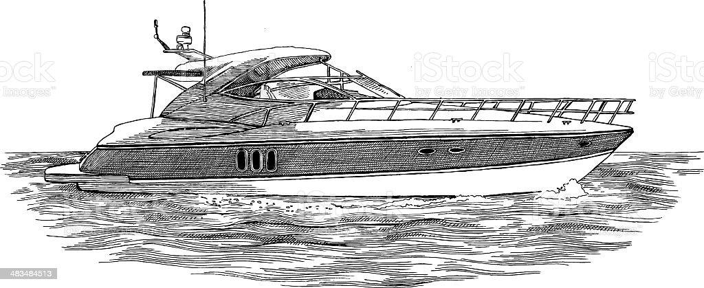 Power Boat royalty-free stock vector art