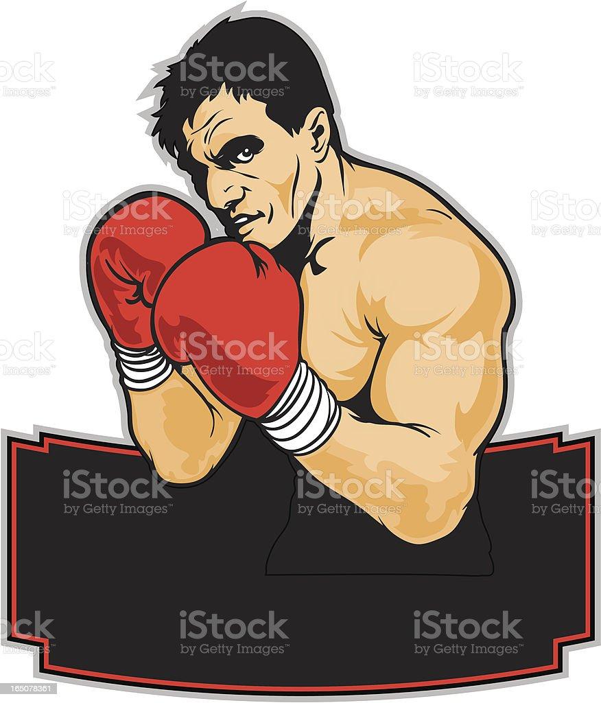 Power Boxer royalty-free stock vector art