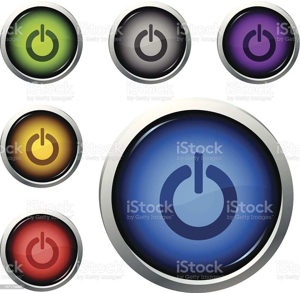 power button vector art illustration