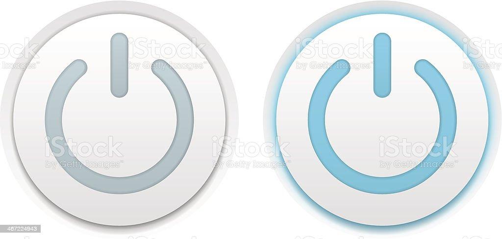 Power buttons vector art illustration