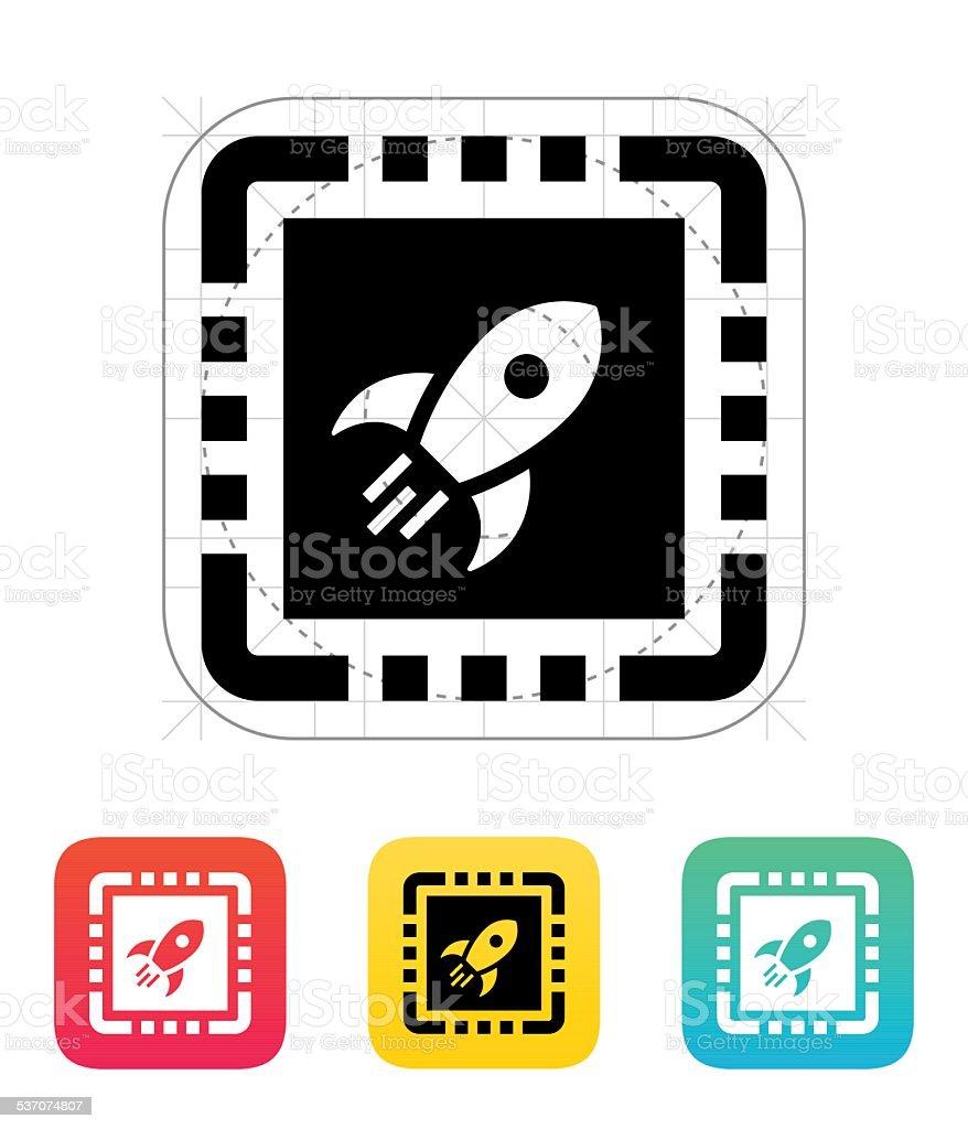 Power CPU icon. Vector illustration vector art illustration