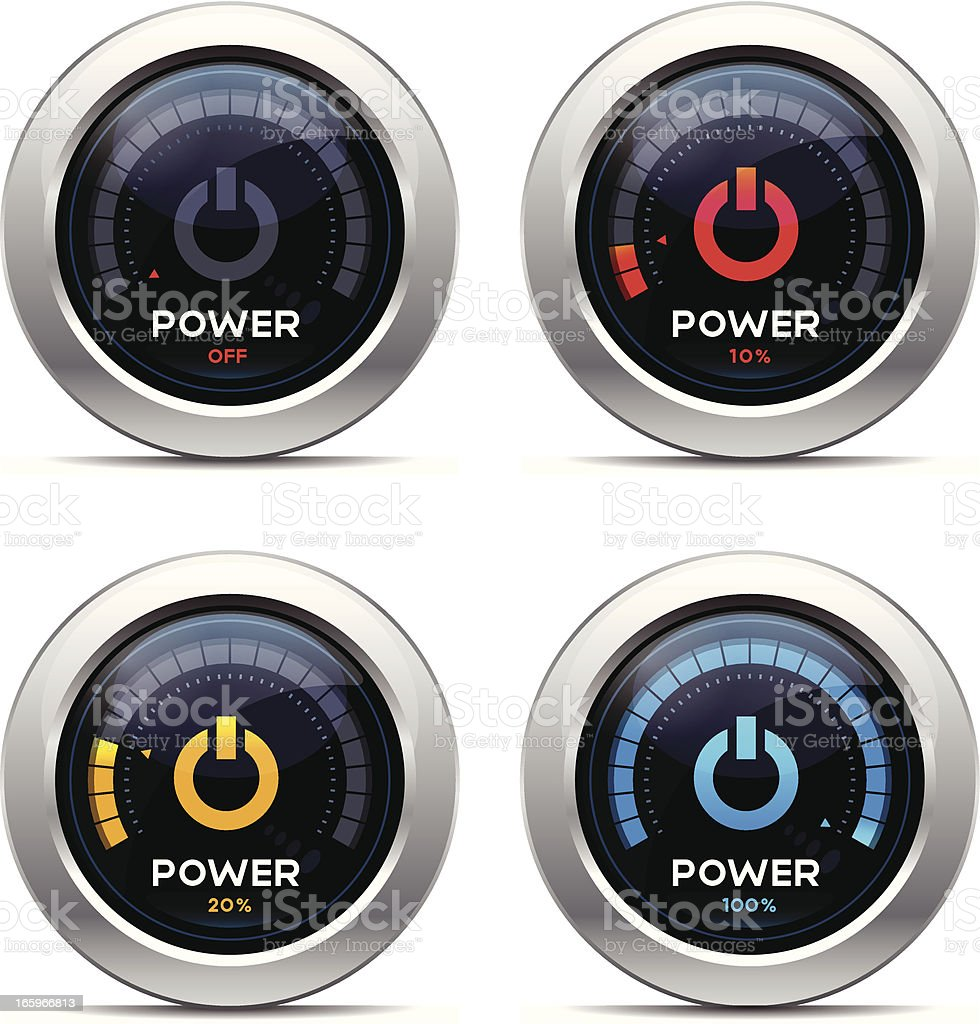 Power Dashboard royalty-free stock vector art
