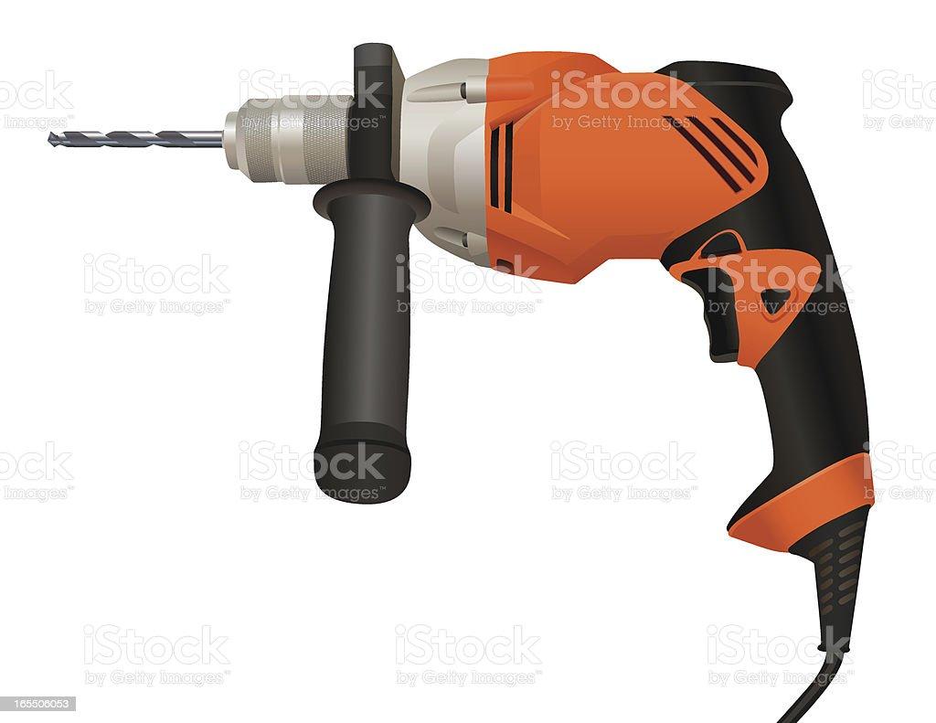 Power Drill vector art illustration
