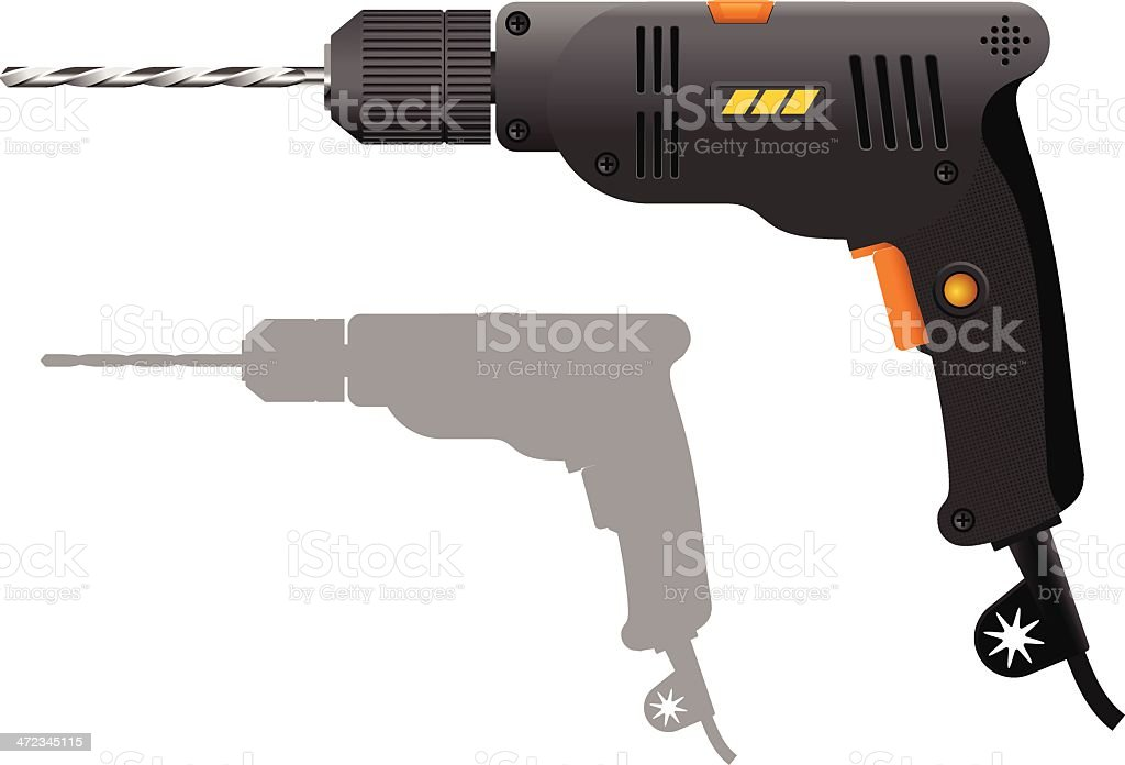 Power drill royalty-free stock vector art