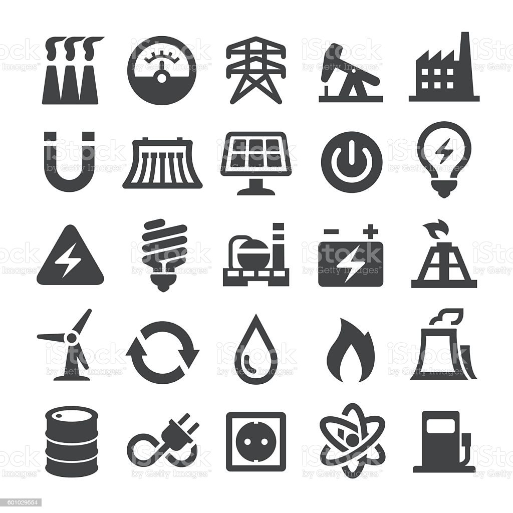 Power Generation and Fuel Icons - Smart Series vector art illustration