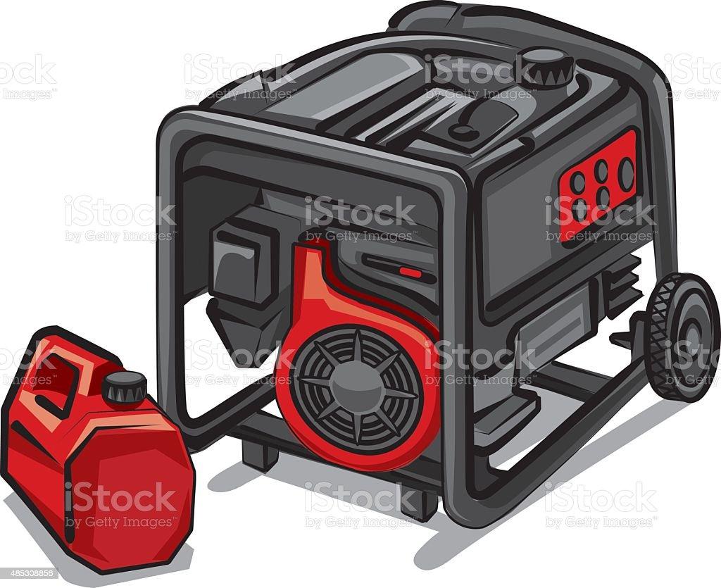 Portable Generator Clip Art Vector Images Amp Illustrations