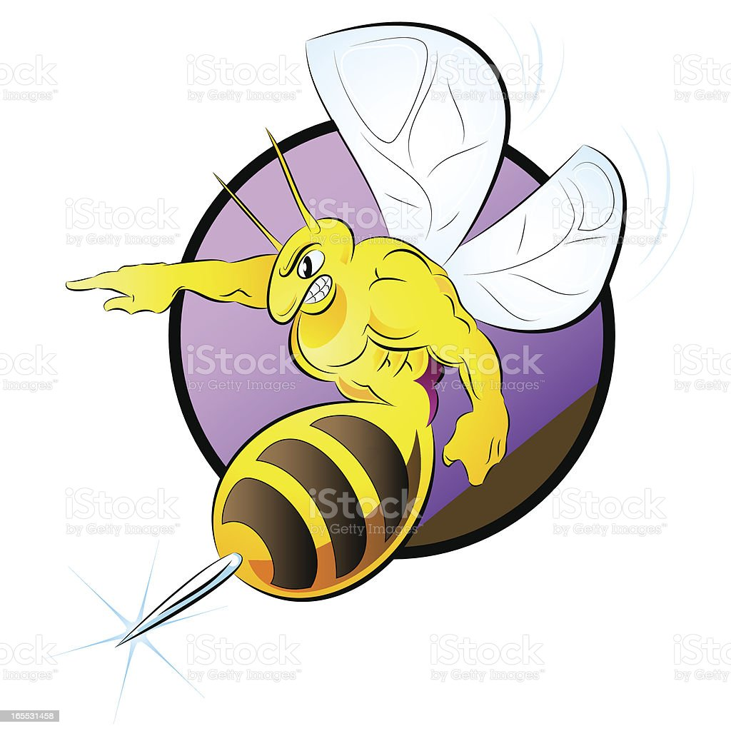 Power Hornet vector art illustration