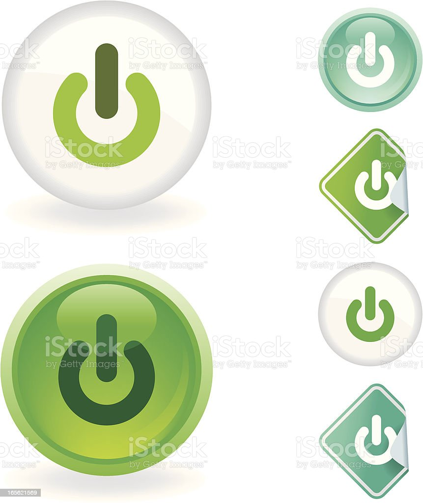 Power  icon | Ecological series royalty-free stock vector art